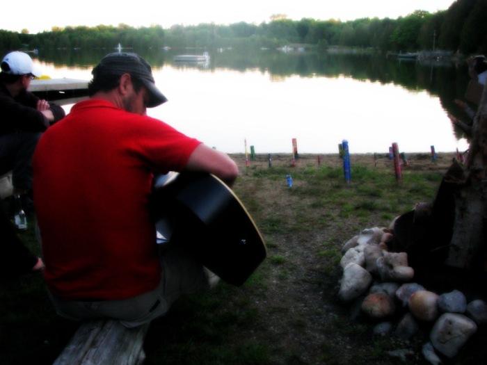 Bonfire, Guitars & Lake