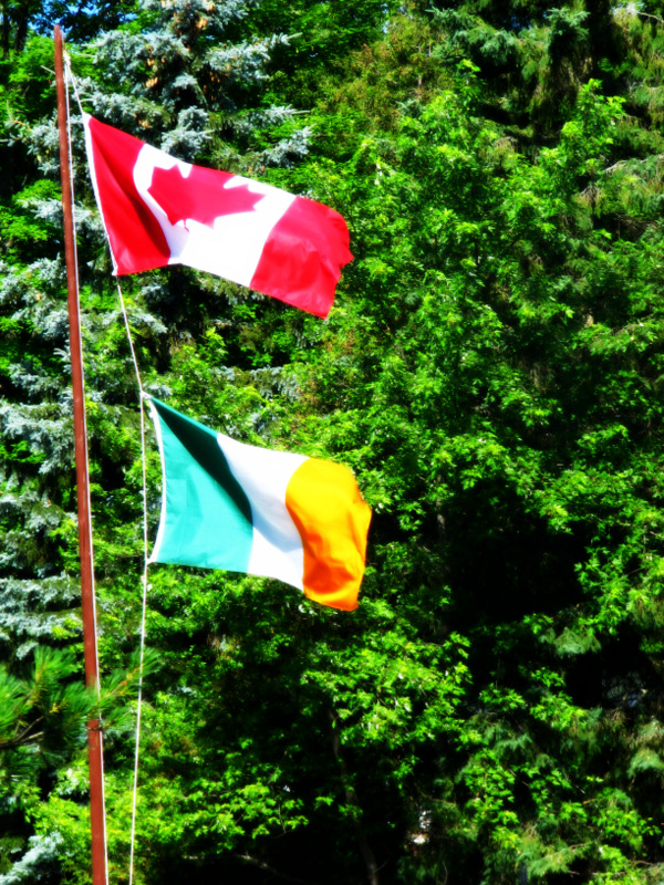 Canadian and Irish Flags