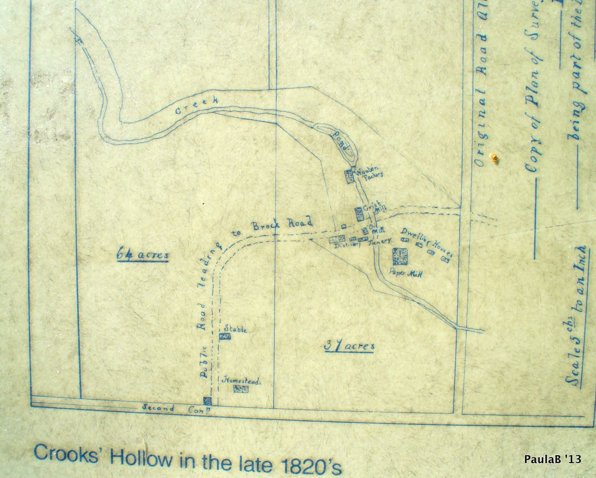 Crooks Hollow 1820 Map
