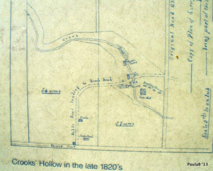 Crooks Hollow 1820 Map