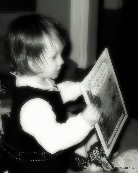 Niece with Storybook