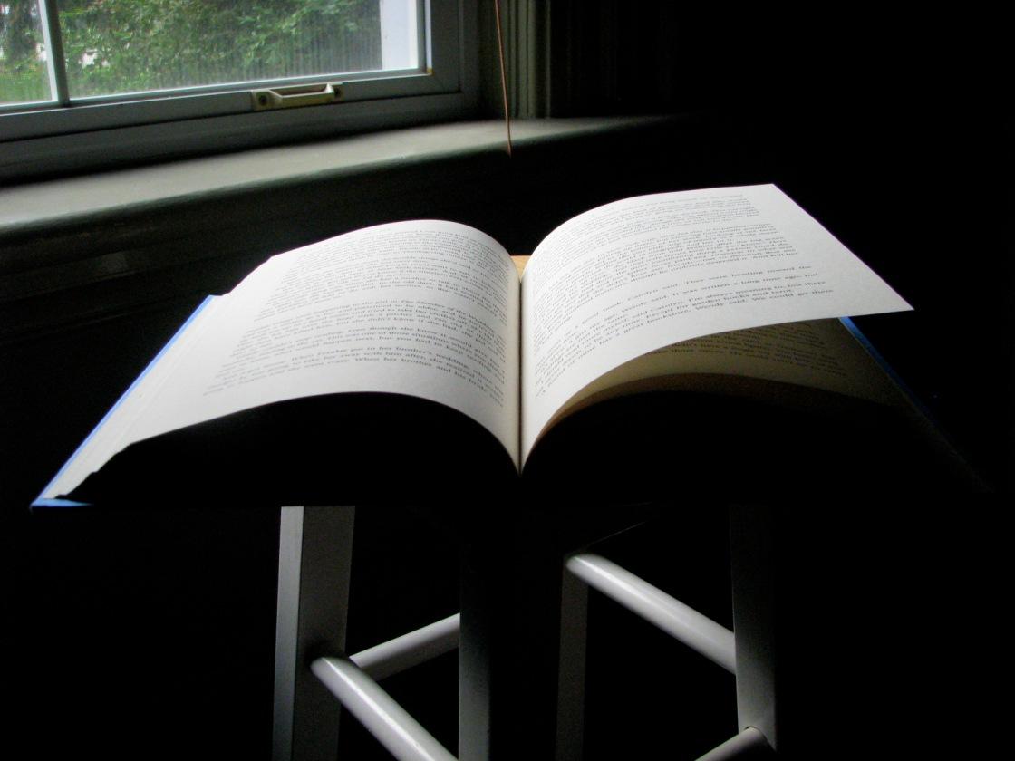 open book on a chair at a window - thetemenosjournal.com