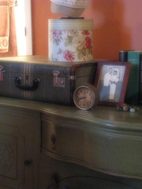 Credenza & collectibles, photos