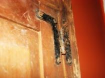 Detail of hinge - Medicine Cabinet