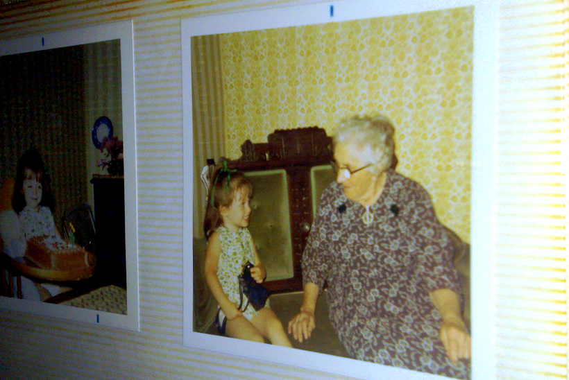 Great Grandma Calvert and I