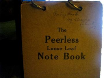 The Peerless Loose Leaf Note Book