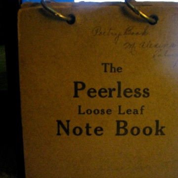 The Peerless Loose Leaf Note Book