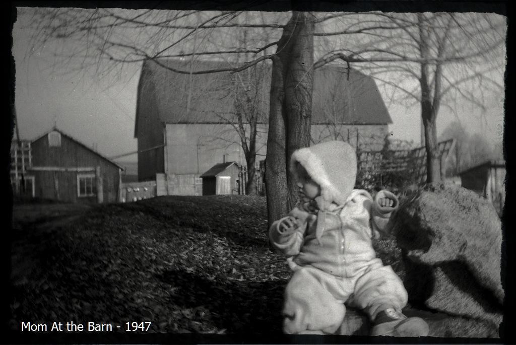 Mom At The Barn