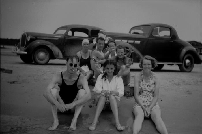 Grandma At The Beach