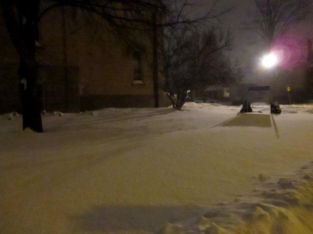 Snowy night in London - February 4th, 2015 - thetemenosjournal.com