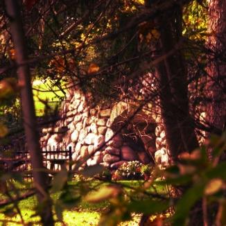 grotto-through-trees