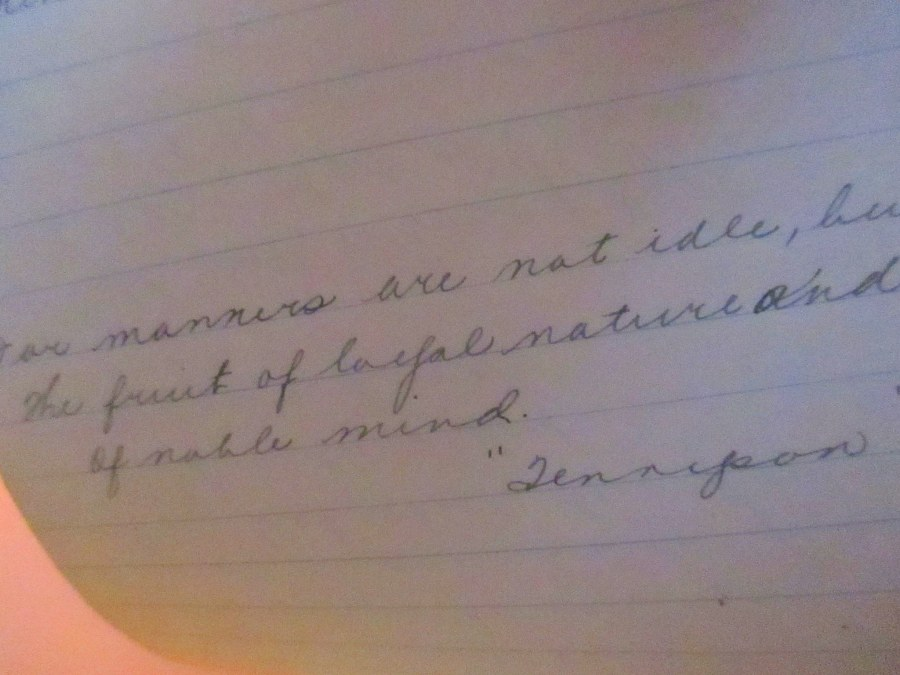 Tennyson Poem