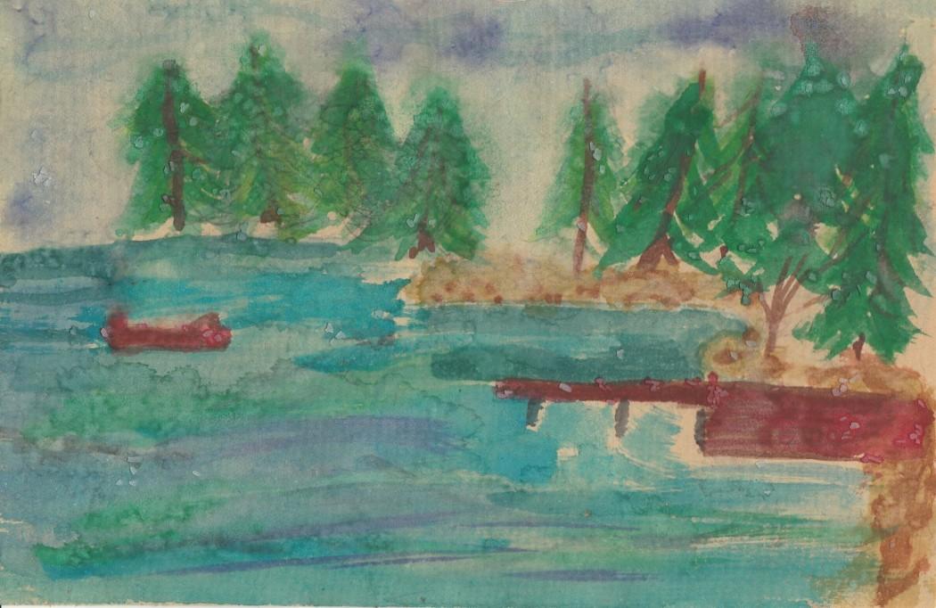 Watercolor - Irish Lake