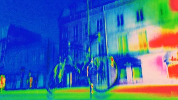 bike at post downtown