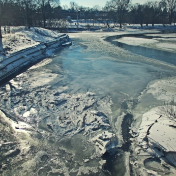 icy waters at the forks