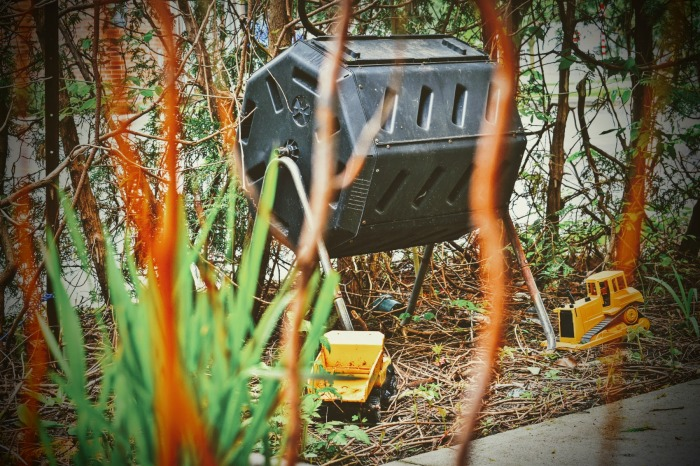 Compost Bin and Toy Trucks - thetemenosjournal.com