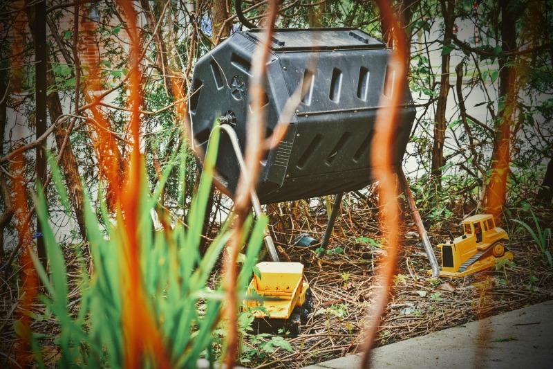 Compost Bin and Toy Trucks - thetemenosjournal.com