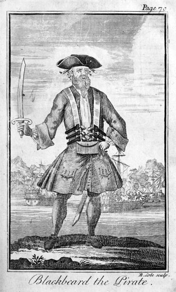 Blackbeard the Pirate - engraving