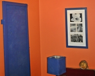 ultramarine blue with orange walls