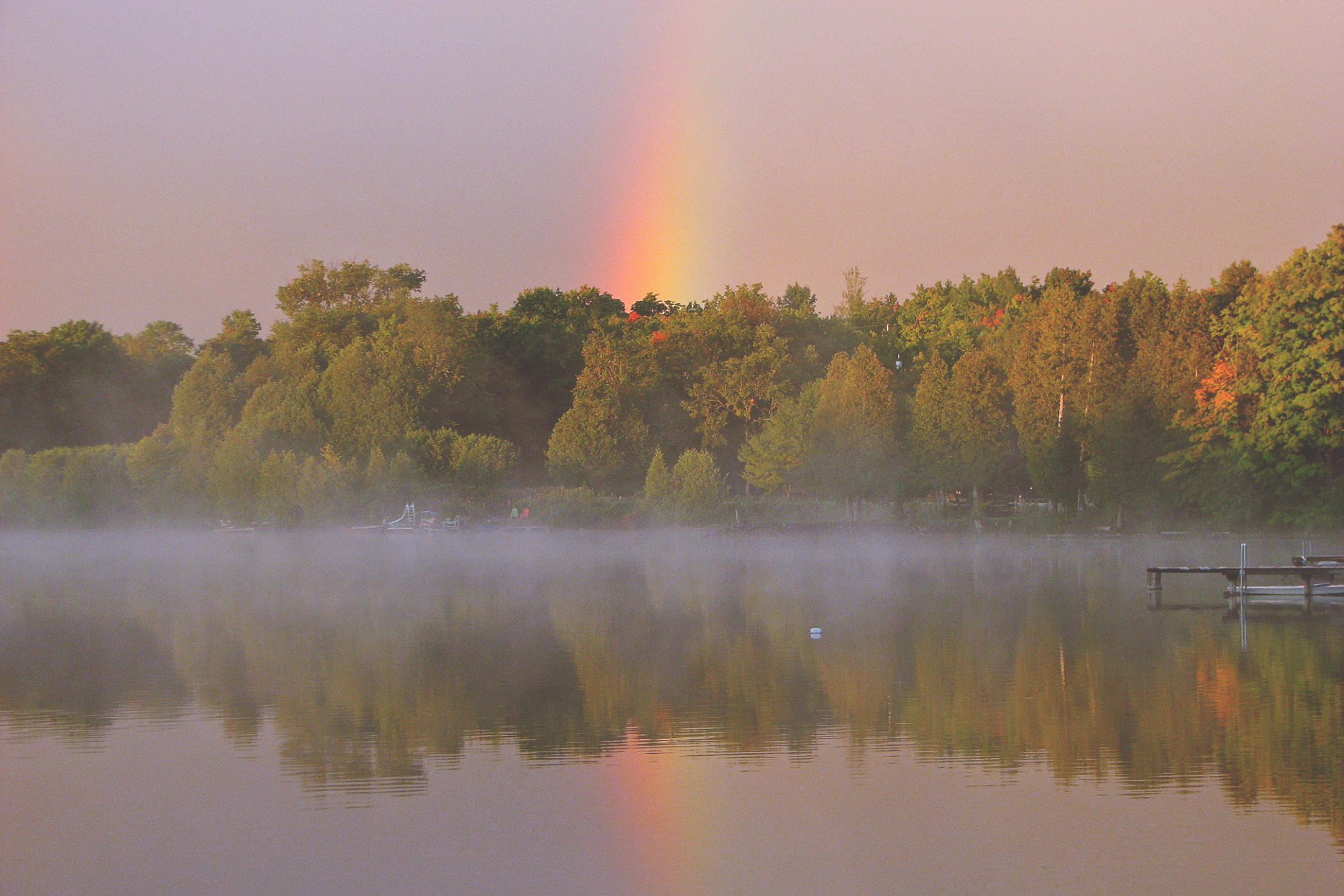 rainbow over the lake - thetemenosjournal.com