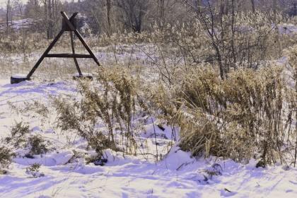 iron tripod at euston meadow