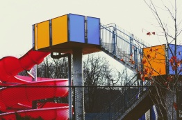 a waterslide in winter