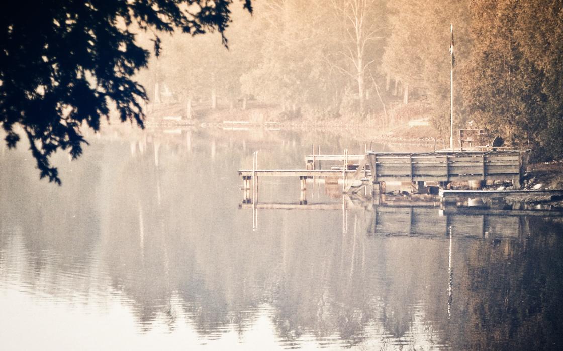 irish lake in a mist