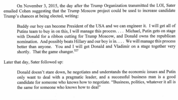 From the Mueller Report - VOL 1, p71