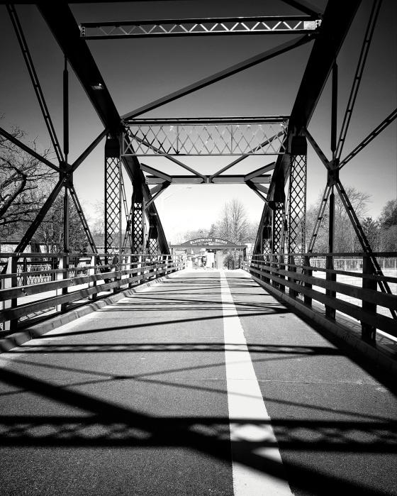 Blackfriars wrought iron bridge